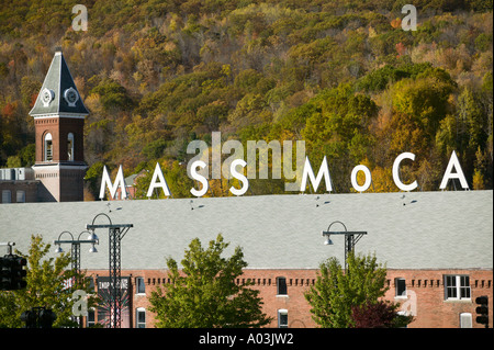 Mass MoCA Massachusetts Museum of Contemporary Art North Adams Massachusetts - Stock Image