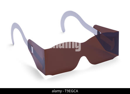 Eye Exam Sun Glasses Isolated on White Background. - Stock Image