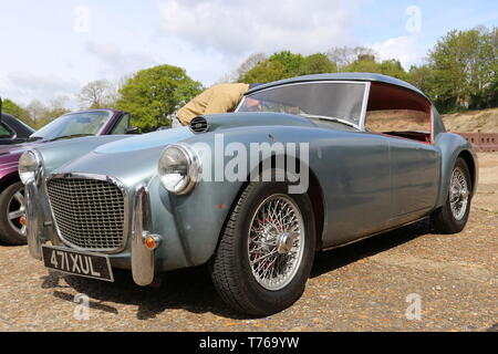 MG MGA 'Fastback' (1956), British Marques Day, 28 April 2019, Brooklands Museum, Weybridge, Surrey, England, Great Britain, UK, Europe - Stock Image