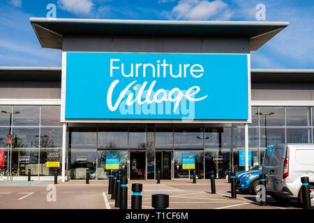 Furniture Village store, UK. - Stock Image
