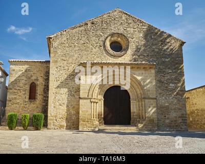 Iglesia de la Santa Cruz, Romanesque church, Baeza, Jaen province, Andalucia, Spain. - Stock Image