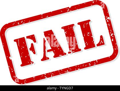 Fail red rubber stamp vector isolated - Stock Image
