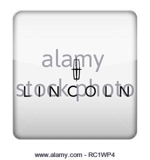 Lincoln car logo - Stock Image