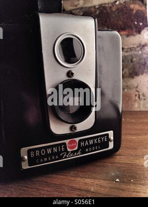 Brownie hawkeye camera - Stock Image