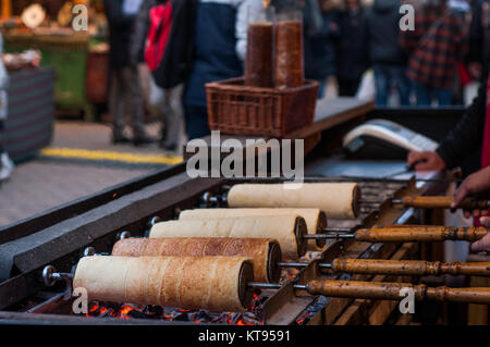 Chimney cakes at the Christmas Market - Stock Image
