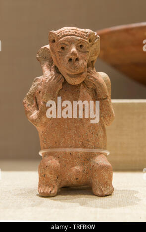Pottery Jug in Monkey Shape 11th-10th Century BC. Jordan Archeological Museum - Stock Image