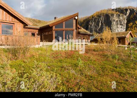Alten Lodge in Rafsbotn, outside Alta city, in Finnmark, Northern Norway. - Stock Image