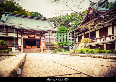 Hōkoku-ji is an old temple in the Kenchō-ji school of the Rinzai sect of Zen Buddhism located in Kamakura, Japan. - Stock Image