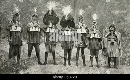 Kukuruku tribal tradition for a young man's coming of age ceremony, Bendel State, Nigeria, West Africa (then in the British Empire). - Stock Image