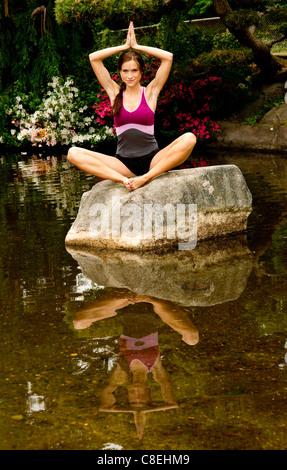 Rachel Parker Yoga - Stock Image