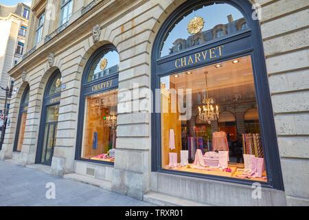 PARIS, FRANCE - JULY 21, 2017: Charvet fashion luxury store in Paris, France. - Stock Image