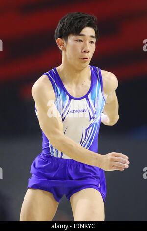 Musashino Forest Sport Plaza, Tokyo, Japan. 19th May, 2019. ? Kazuki Minami, MAY 19, 2019 - Artistic Gymnastics : The 58th NHK Cup Men's Individual All-Around Floor Exercise at Musashino Forest Sport Plaza, Tokyo, Japan. Credit: YUTAKA/AFLO SPORT/Alamy Live News - Stock Image