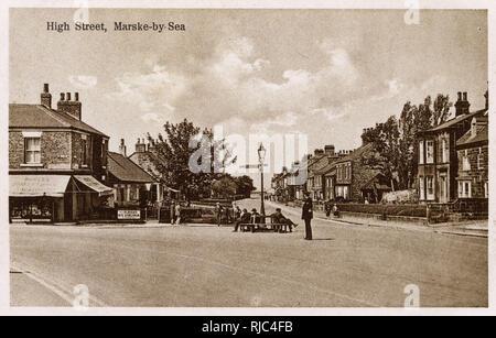 Marske-by-Sea - North Yorkshire, England - High Street - Stock Image