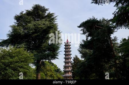 The great pagoda at Kew Gardens, Surrey - Stock Image