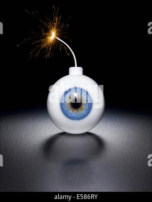 An explosion on your eyes - Stock Image