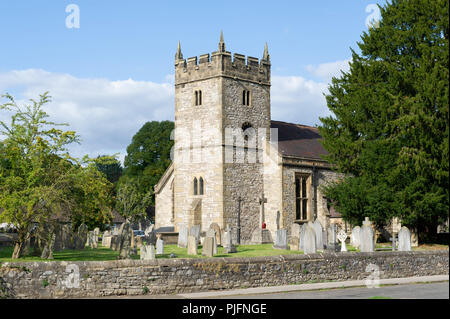 Holy Trinity Church at Ashford In The Water, Peak District National Park, Derbyshire - Stock Image