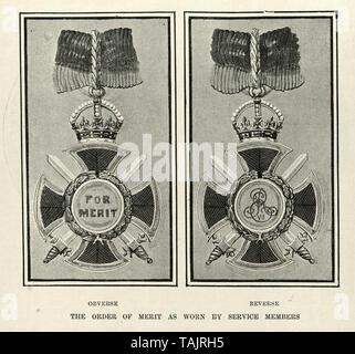 Order of Merit medal, 1902 - Stock Image