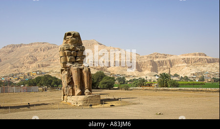 Valley of the Living Luxor Thebes Egypt Africa from the Colossus of Memnon - Stock Image