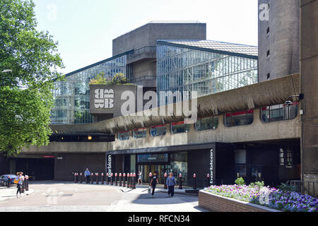 Entrance to The Barbican Theatre, Silk Street, Barbican, City of London, Greater London, England, United Kingdom - Stock Image