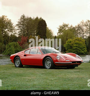 1969 Ferrari 246 GT Dino 2 4 litre V6 mid engine Berlinetta 195bhp with a top speed of 152mph Country of origin - Stock Image