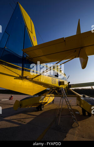 Air Tractor AT 802 A Fire Boss with floats Zemunik AFB Croatia - Stock Image