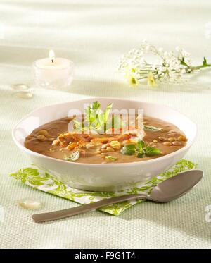 Lentil soup - Stock Image