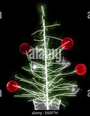 Christmas decoration under x-ray - Stock Image