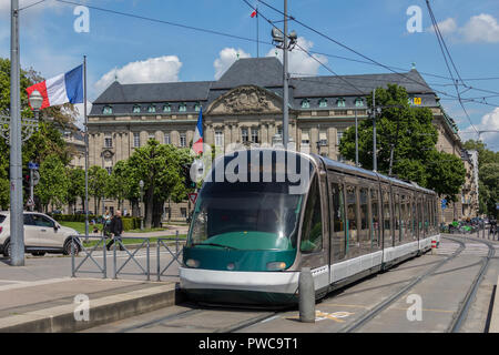 Public transport tram system in the city of Strasbourg in the Alsace region of eastern France. - Stock Image