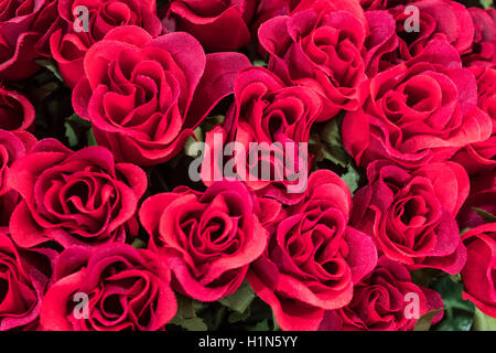Silk Flowers , Roses,  Old City Center Nice, Vieille Nice, Alpes Maritimes, Provence, French Riviera, Mediterranean, - Stock Image