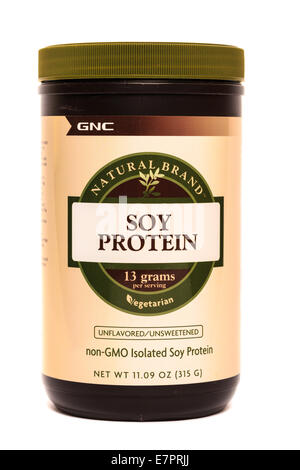 GNC Brand Soy Protein Isolate - Stock Image