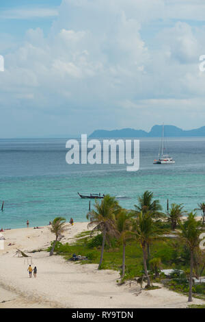 Bulow beach from above, Lo Lipe, Thailand - Stock Image