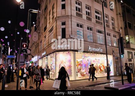 Accessorize shop on Oxford Street, London, England, UK - Stock Image