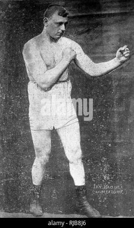 Ian Hague (1885-1951), English heavyweight boxer. - Stock Image