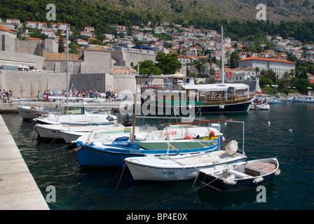Dubrovnik Harbour, Old Town, Dalmatia, Croatia - Stock Image