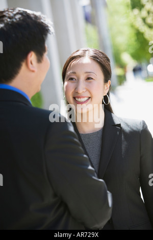 Businesspeople talking - Stock Image