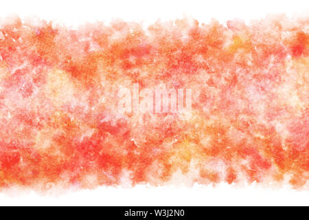 Japanese new year red white watercolor abstract or grunge vintage hand paint background, vector illustration - Stock Image