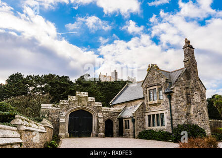 Entrance to St Michael's Mount, Cornwall, UK - Stock Image