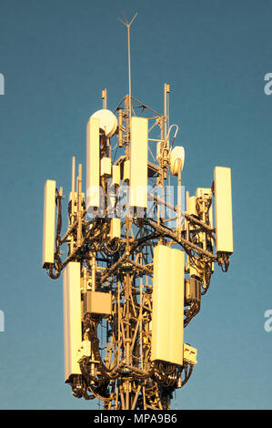 Telecommunications tower on Eildon Hill, Windsor, Brisbane, Queensland, Australia - Stock Image