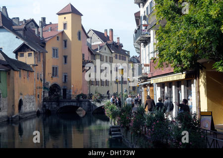 View of Annecy and Palais de I'lle - Stock Image