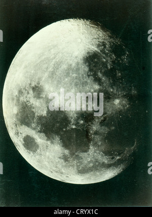 Moon, August 18, 1888 by Isaiah W. Taber - Stock Image