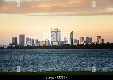Perth skyline,  Western Australia - Stock Image