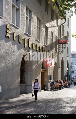 Switzerland Zurich Zeughauskeller in old city center near Bahnhofstrasse - Stock Image