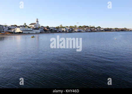 View of downtown Provincetown, MA, USA - Stock Image