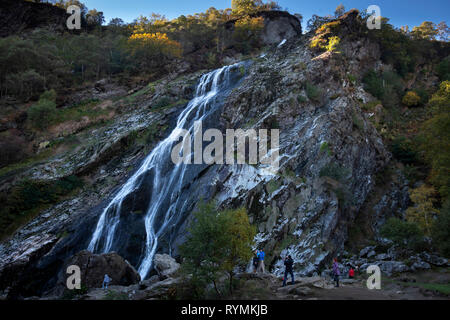 Powerscourt Waterfall in Wicklow Mountains National Park - Stock Image