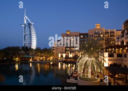 Burj al Arab , Medinat Jumeirah Hotel , Dubai UAE - Stock Image