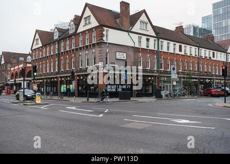 Spitalfields Market as seen across Commercial Street, east London, England, UK, - Stock Image