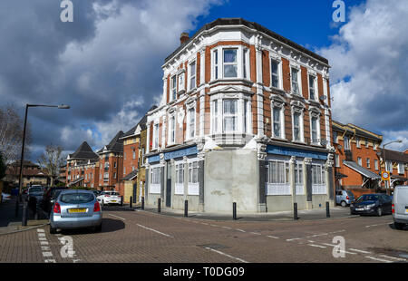 Bermondsey Borough of Southwark London UK - The Bramcote Arms which has been converted into flats - Stock Image