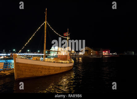 Traditional Norwegian fishing boat, Svolvaer, Norway. - Stock Image