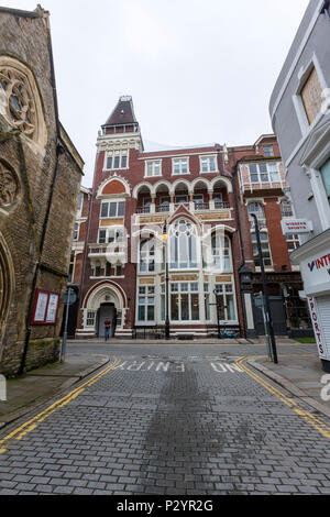 Building at Claremont street, Hastings, East Sussex, England , UK - Stock Image