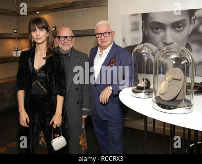 Celebrities attend ÁME Jewelry Launch Event at Eric Buterbaugh Gallery  Featuring: Elinor Avni, Eric Buterbaugh, Alex Popov Where: Santa Monica, California, United States When: 13 Dec 2018 Credit: Brian To/WENN.com - Stock Image